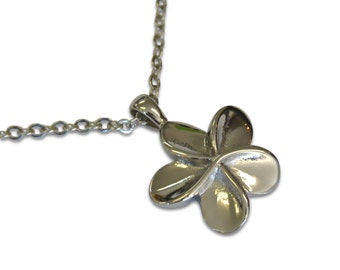 Flower Necklace Flower Cremation Pendant Jewelry Silver Keepsake Memorial Urn Necklace 2134