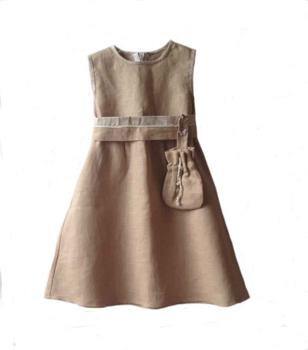 robe en lin beige naturel lin naturel de robe d 39 t robe en. Black Bedroom Furniture Sets. Home Design Ideas