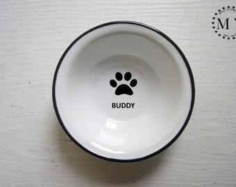 Custom Pet Bowl Dog Bowl ENGRAVED Pet Bowl, Dog bowl pottery, Metal Dog Dish, Personal Pet Dish, Custom Dog Bowl, Bowl with Name, Dog Name