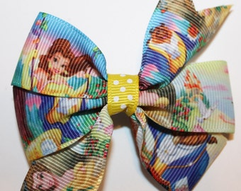 Beauty and the Beast Hair Bow, Toddler Belle Hair Bow, Belle Bow, Beauty Hair Bow, Princess Hair Bow, Toddler Hair Bow, Princess Belle