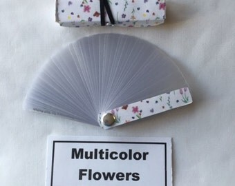 "Nail Polish Swatches, Easy-to-Change, Portable, Sortable - Mini Flowers-  Size 3 1/4"" x 7/8"" x 5/8"""