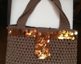 Messenger Bag - Coco with Bronze Bangles