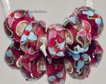 1pc Flower Murano Glass Bead