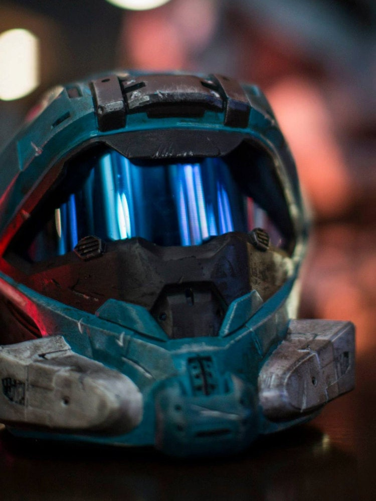 SUMMER SALE Halo 4 Recon Helmet Fully Painted by JJArmoryInc