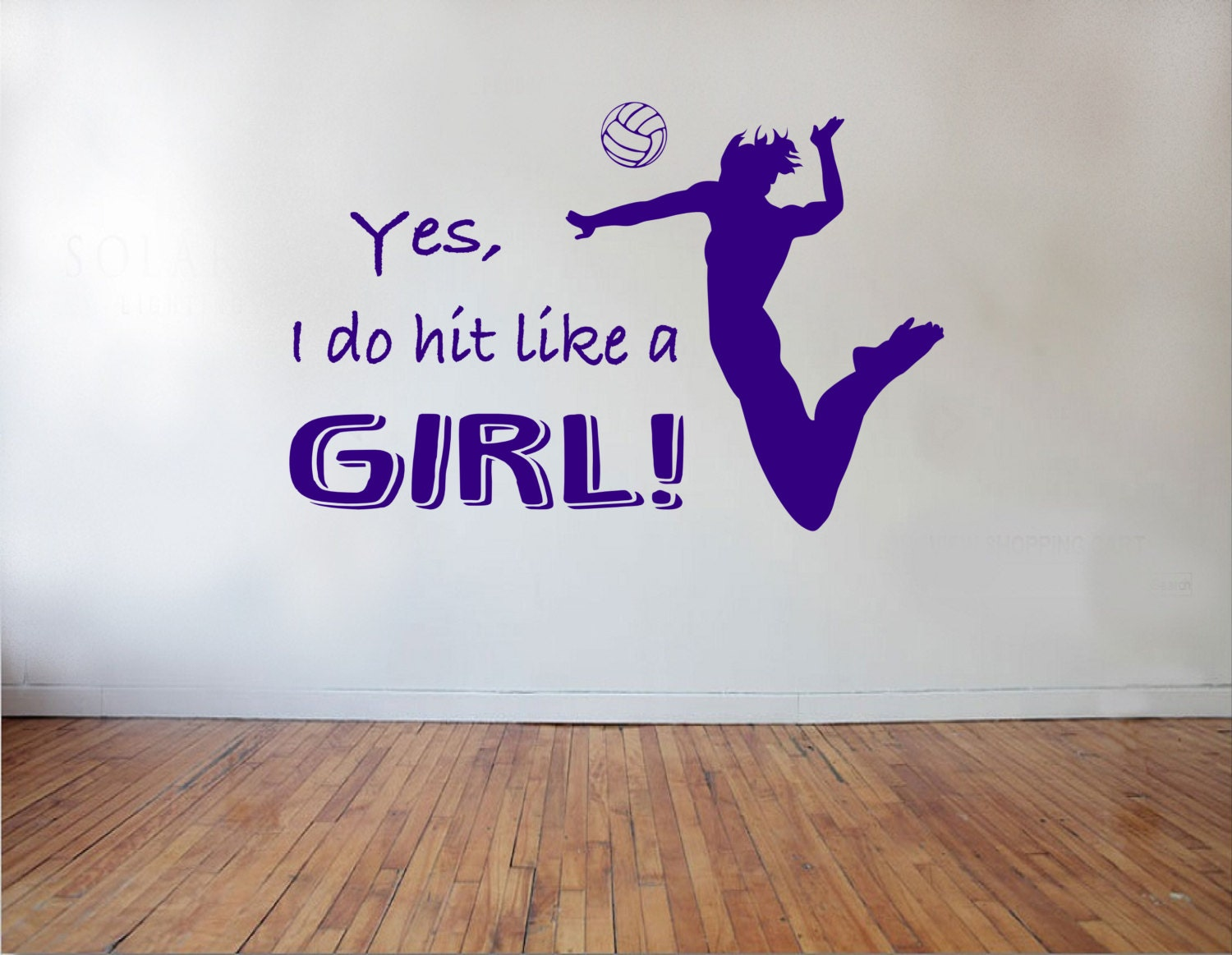 I Like A Girl Quotes: Yes I Do Hit Like A Girl Volleyball Wall Decal Sports