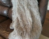 Large Faux Fur Throw Blanket Gray/ Grey