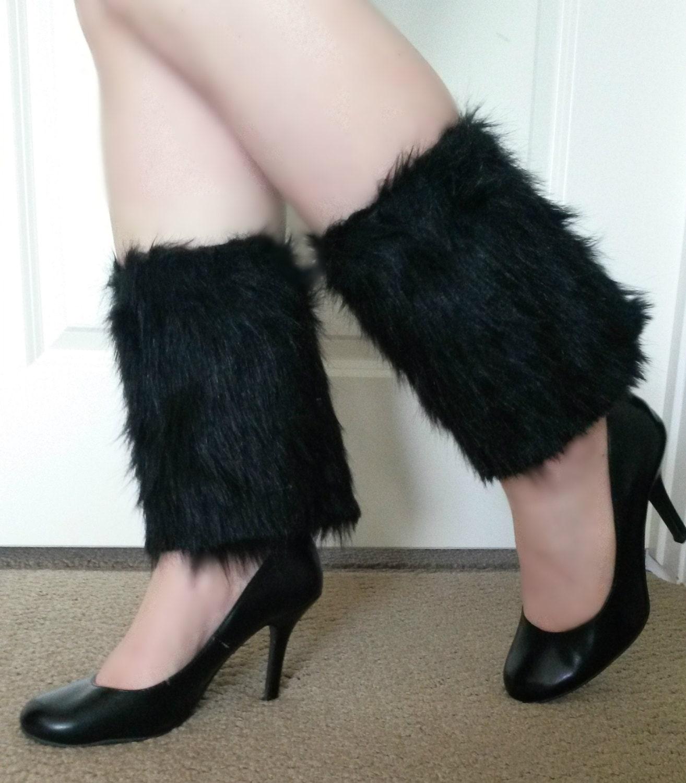 Faux Fur Cuffs: Faux Fur Boot Cuffs/ Short Leg Warmers