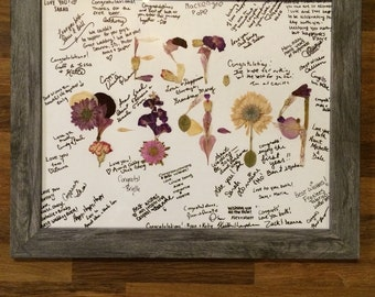 """Dried Flower Petal Wedding Guest """"Book"""" - Made to Order"""