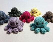 Mini Octopus Stuffed Animal, Octopus Plush, Octopus Amigurumi, Crochet Octopus Amigurumi, Cute Octopus, Octopus Toy, Stuffed octopus,