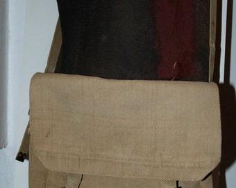 Genuine Vintage 1945 British Army Utility Canvas Shoulder Bag -- Free Shipping