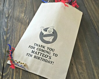Personalized Ghostbuster Birthday Party Paper Favor Bags!