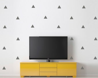 Triangle wall decal, Little Peaks Decal,Choose your Color triangle, Wall Stickers, Geometric wall decal, triangles, wall decal