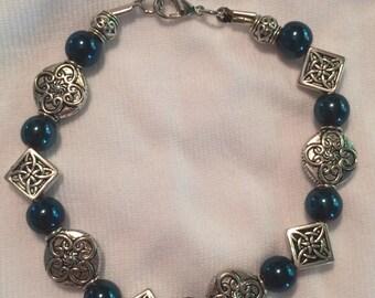 Blue Celtic Bracelet