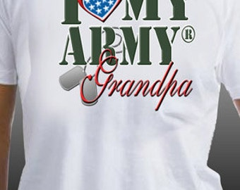 I Love My Army Grandpa Patriotic United States Military T-Shirt