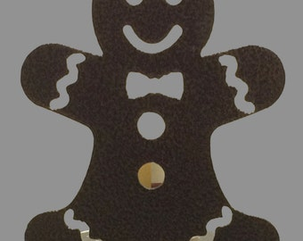 Metal Gingerbread Man Candle Holder