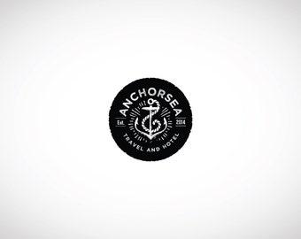 VINTAGE LOGO - Custom Premade Logo, Anchor Logo, Custom Business Logo Design, Premade Watermark Logo, Graphic Design