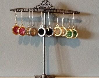 Hand made Swarovski crystal earrings