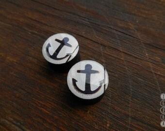 "Pair plugs Anchor image wooden ear Gauges,4,5,8,10,11,12,14,16,18,20,25-60mm;6g,4g,2g,0g,00g;1/4,5/16,3/8,7/16,1/2,9/16,5/8,3/4,7/8,1 1/4"""