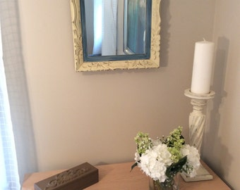 Mirror - Vintage Wall Mirror - Rectangular - Painted & Distressed - Great Shabby Chic Mirror