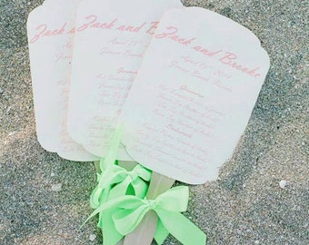 Fan Wedding Bulletin