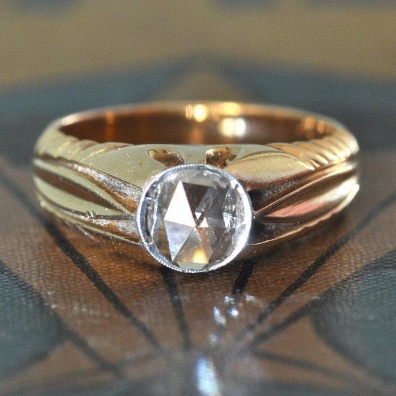 1800s Engagement Ring-Art Nouveau Engagement Ring-Unique