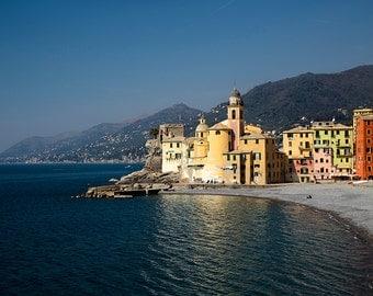 Camogli photography, Cinque Terre, Five Lands, Italian sea, sea photography, Italy photography, italian coast. Fine Art Print.