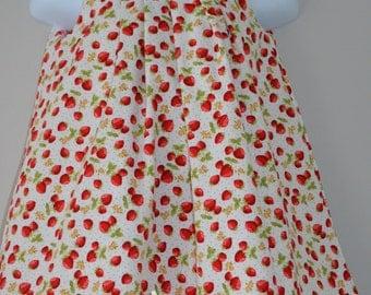Sale, Strawberry Dress, Toddler Floral Dress, 1st Birthday Dress, Reversible Pleated Dress, Size 1 Years, Hattie Dress, Party dress,