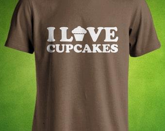 I Love Cupcakes Tshirt, Cupcake T shirt, Sweet shrit,  Men's Clothing, Women's Clothing, Mens, Womens, Ladies, Guys, Youth, Kids.