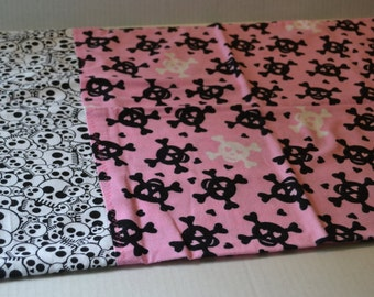 Pink Skull and Cross Bones Pillowcase