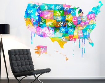 Fantasy Map Of United States Usa Map Poster Usa Wall Map - Us map of the united states