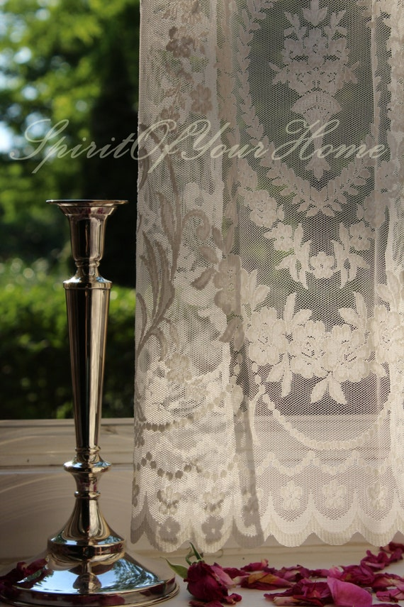 Chiara 39 Italian Net Lace Curtains Embroidered By Spiritofmyhome
