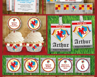 Instant Download -Knight themed party pack printable -Kid birthday party pack-for persona use only