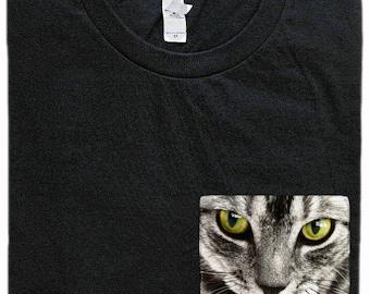 Tabby Cat Pocket Shirt