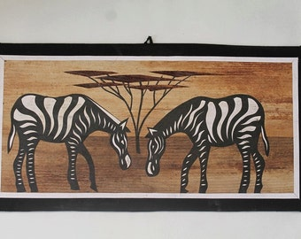 African fibre wall hanging