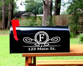 Mailbox Decal Set- Custom Vinyl Mail Box Numbers Cover - Includes (2) Two Decals Stickers Home Address