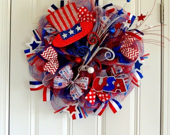 Rustic 4th Of July Door Hanger