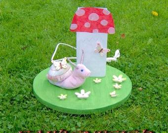 "Lamp: ""snail Rosalie with fly agaric"""