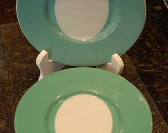 """90s SWID POWELL saucer Flip Flop pattern 6.25"""" HTF turquoise and white by Calvin Tsao and Zach McKown"""