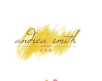 premade logo design, watercolor logo, art logo, crafts
