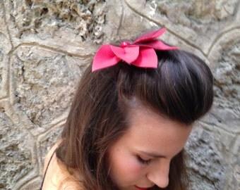 Red Flower Headpiece,Red Hair Pin,Flamenco Flower,Jypsy Hair pin,Hippie Hair Flower,Hair accessories,Bohemian accessory,Bridesmaids
