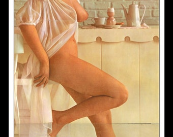 """Mature Playboy August 1962 : Playmate Centerfold Jan Roberts 3 Page Spread Photo Wall Art Decor 11"""" x 23"""""""