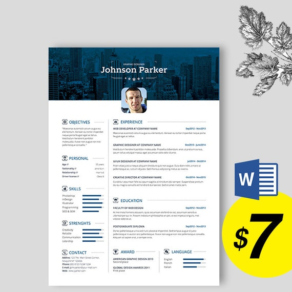 creative resume template cv word docx psd by linkpersonality