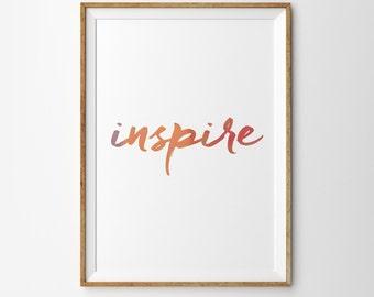 INSPIRE - Typograpy Print