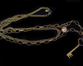 Key to my Heart Double Chain Necklace