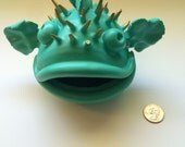 Turquoise and Gold Blowfish