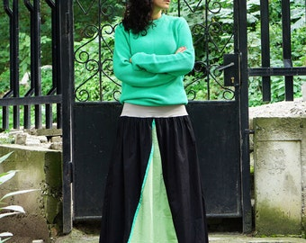 Green Skirt, Long Maxi Skirt, Cotton Skirt, Plus Size Skirt, Full Skirt, Maternity Skirt, Bohemian Skirt, Black Skirt, Mint Skirt