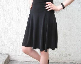 Skater skirt many colors High waist circle skirt vegan Dance skirt spandex lycra black mini skirt