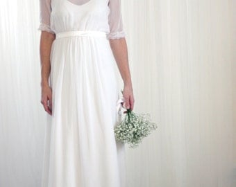 Silk Chiffon Vintage Inspired Wedding Dress
