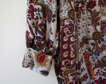 Vintage Guess Paisley button down