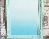 Vintage Framed Magnetic Inspiration Vision Board Mint Aqua Ombre